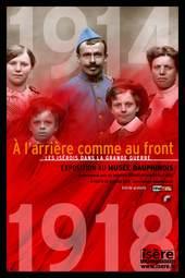 Affiche de l'exposition À L'ARRIÈRE COMME AU FRONT.