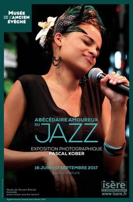 Affiche d el'exposition Abécédaire amoureux du jazz ©
