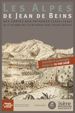 Affiche de l'exposition Les Alpes de Jean de Beins ©