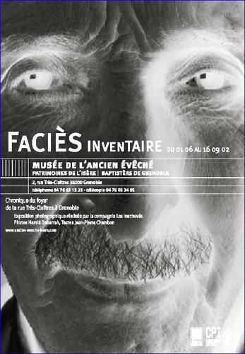 Affiche de l'exposition Faciès Inventaire Chronique du foyer de la rue Très-Cloîtres à Grenoble ©