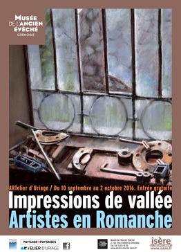 Affiche de l'exposition Impressions de Vallée. Artistes en Romanche ©