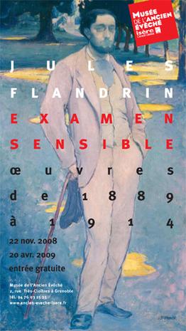 Affiche de l'exposition Jules Flandrin ©
