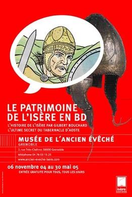 Affiche de l'exposition Le patrimoine de l'Isere en BD ©