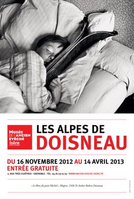 Affiche de l'exposition Les Alpes de Doisneau ©