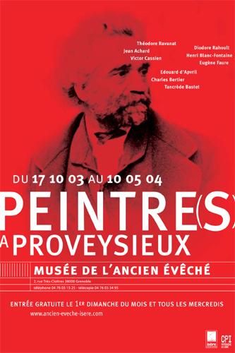 Affiche de l'exposition Peintre(s) à Proveysieux ©
