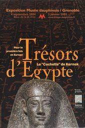"""Affiche de l'exposition TRÉSORS D'ÉGYPTE. LA """"CACHETTE"""" DE KARNAK"""