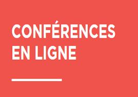 conférence en ligne écrit en blanc sur fond orange © Ville de Grenoble