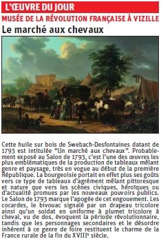 copie de l'article du Dauphiné libéré sur une peinture © Dauphiné Libéré