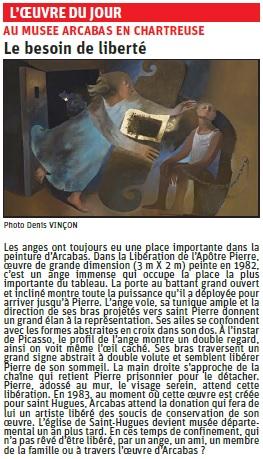 article du Dauphiné Libéré sur Le besoin de liberté du musée Arcabas © Dauphiné Libéré
