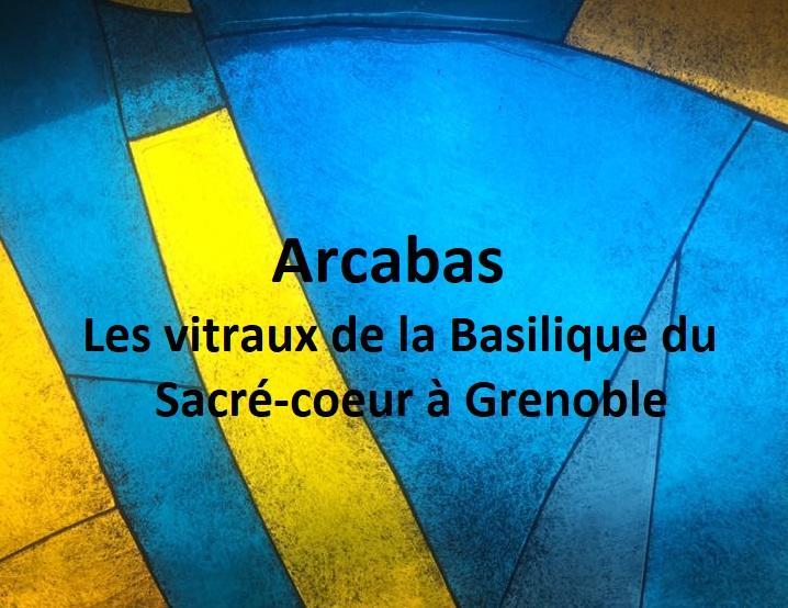 """Visuel de l'expositiion """"Les vitraux de la Basilique du Sacré-Coeur"""""""