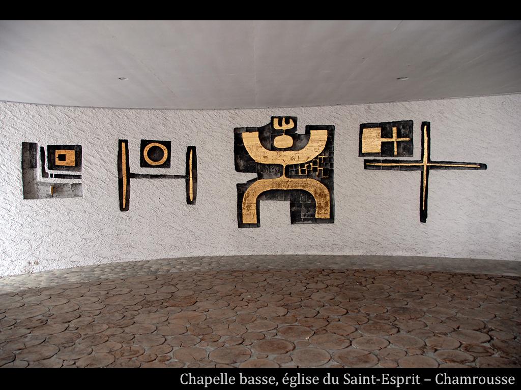 Visuel des oeuvres d'Arcabas à Chamrousse - Eglise du Saint-Esprit