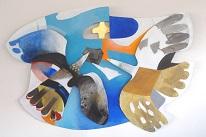 """Oiseaux"", sculpture en métal, Pontcharra"