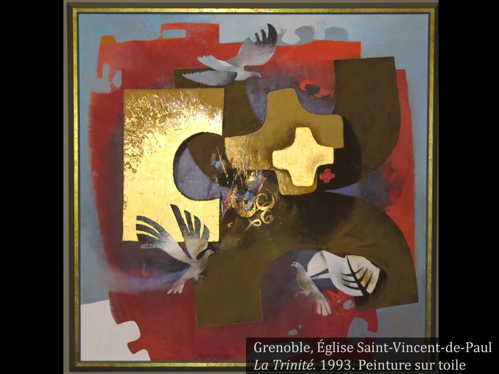 """Visuel de l'oeuvre """"La trinité"""", Arcabas"""
