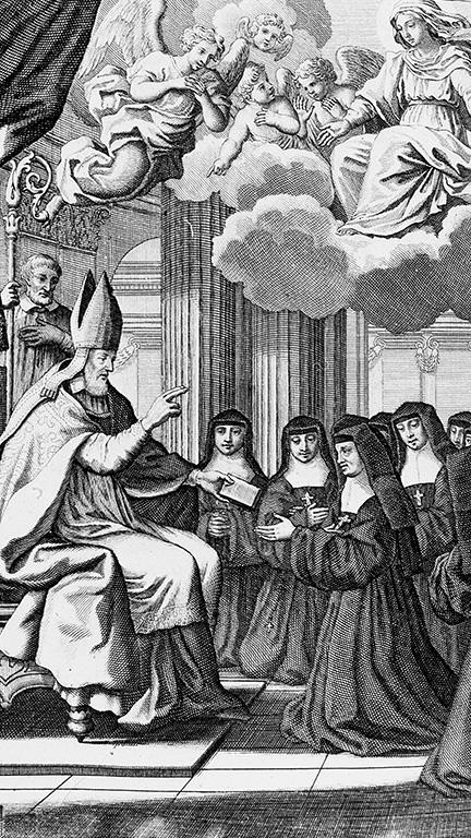 Saint François de Sales remettant la règle aux visitandines