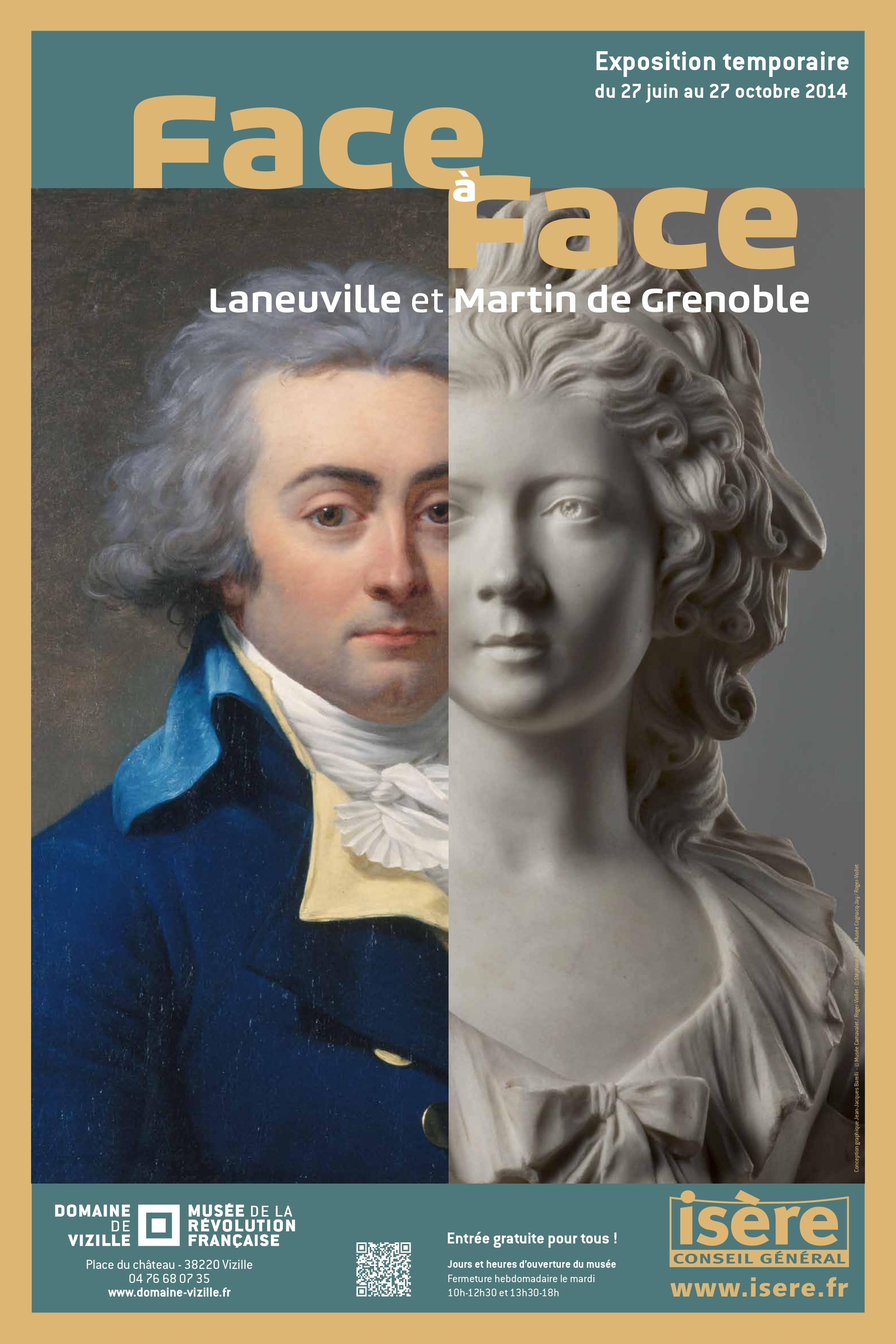Affiche Face à Face, Laneuville et Martin de Grenoble