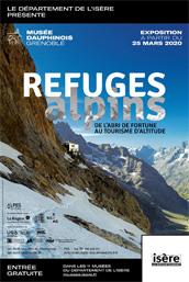 Visuel de l'exposition Refuges alpins