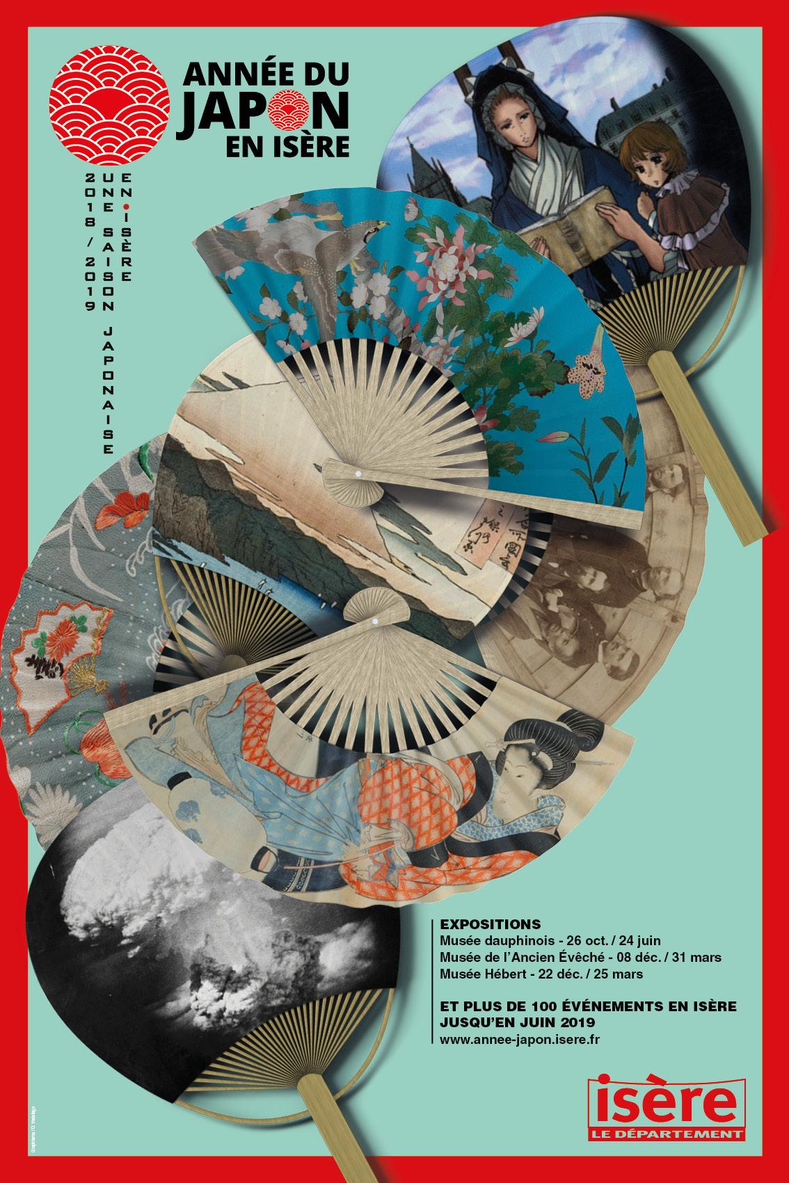 Affiche Année du Japon en Isère - automne 2018