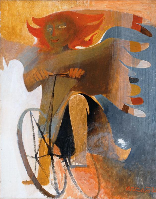 L'ange espiègle à vélo