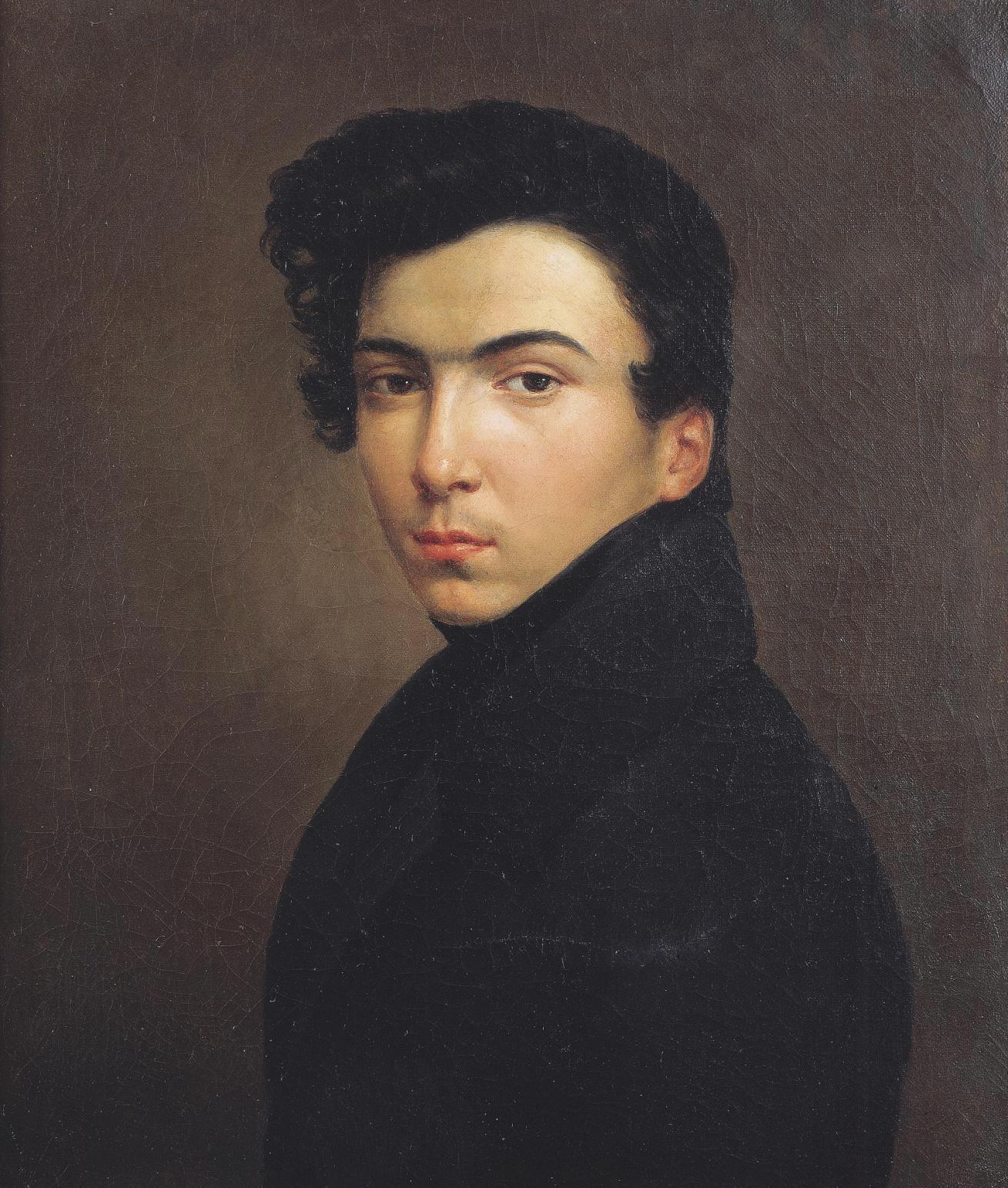 Ernest Hébert, Autoportrait peint à 17 ans, 1834