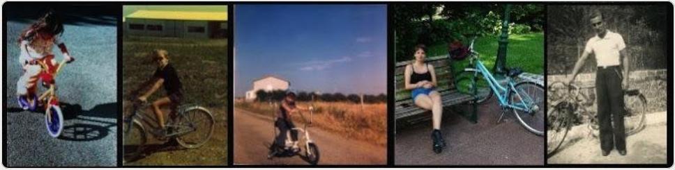 Les cyclistes dans les albums de famille