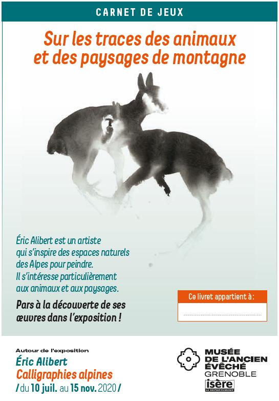 Première de couverture du livret de jeux pour enfant qui reprend l'affiche de l'exposition