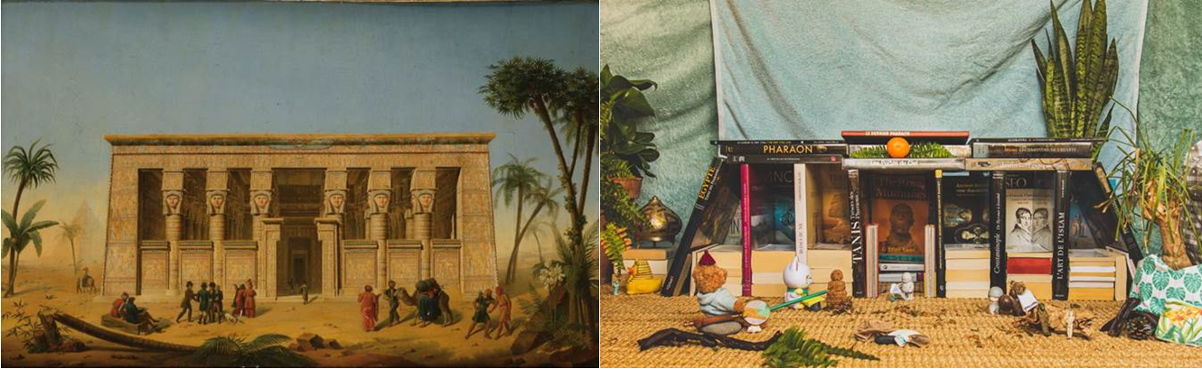 "Reproduction du tableau ""Temple de Dendera"" de Testard - coll. Musée Champollion / challenge Tussen kunst & quarantaine"
