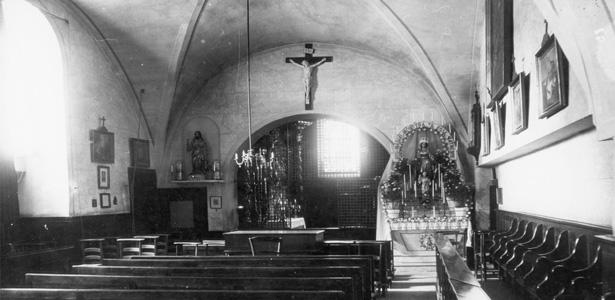 Le choeur des religieuses avant 1905, chapelle de Sainte-Marie d'en-Haut
