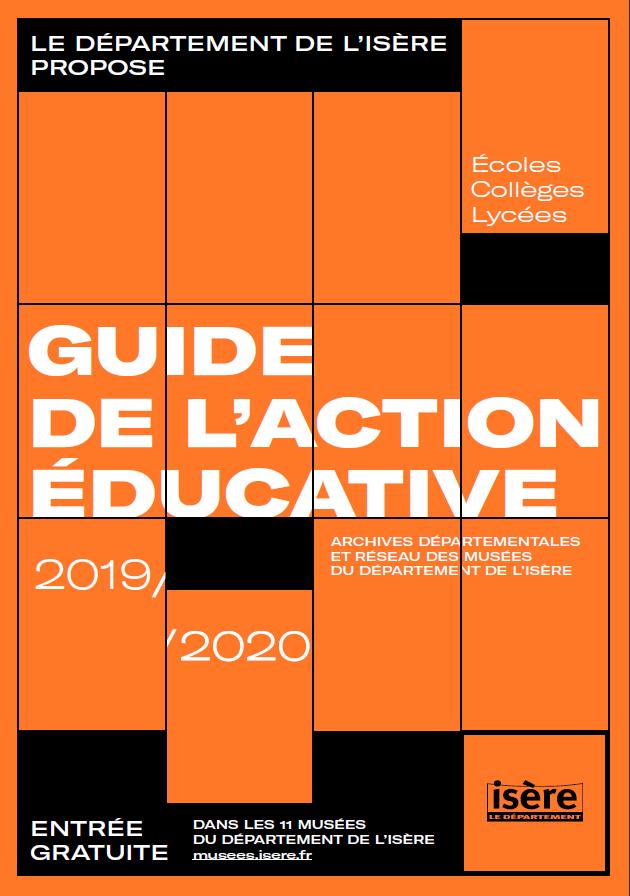 Couverture du guide de l'action éducative 2019/2020