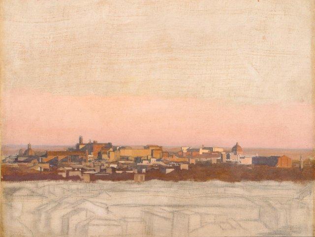 E.Hébert, Vue de Rome, sans date