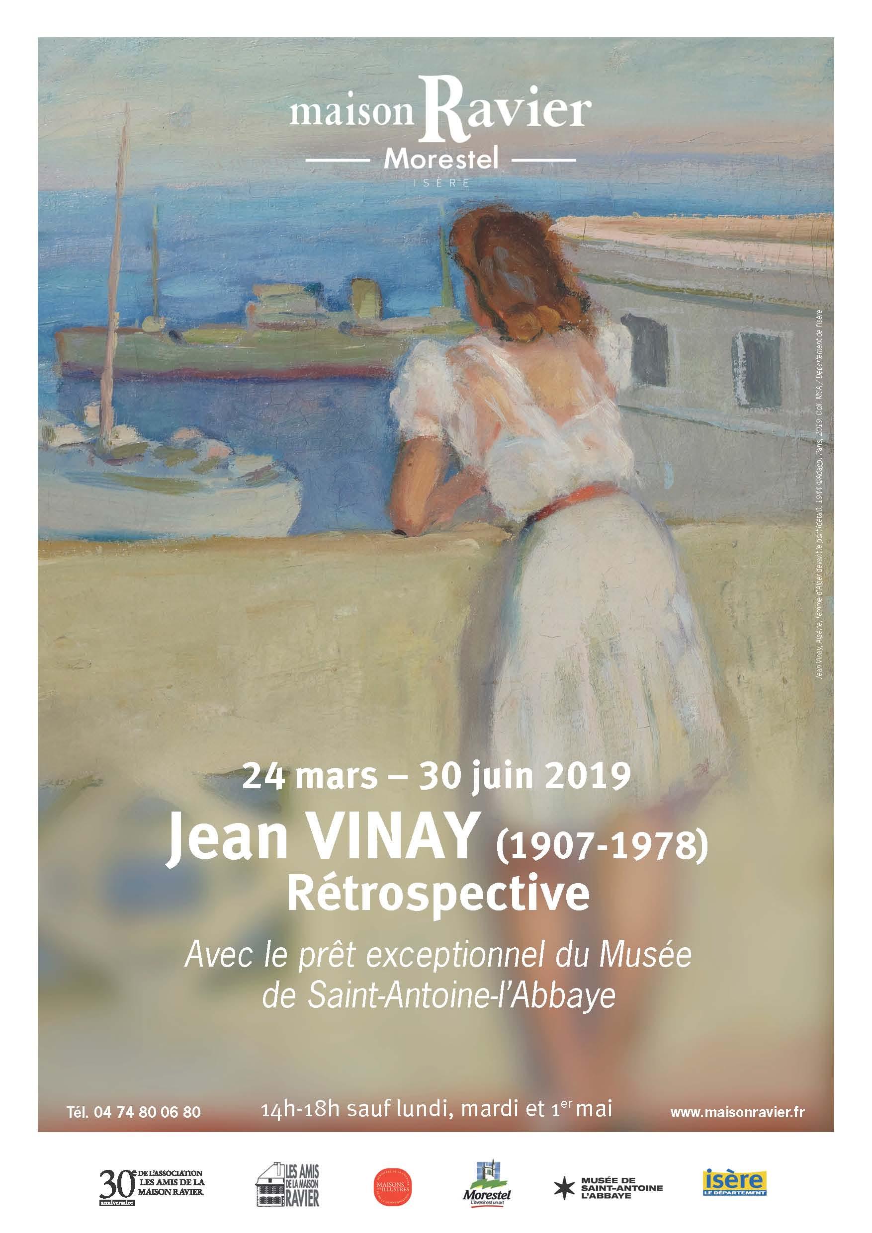 Affiche exposition Jean Vinay à la Maison Ravier