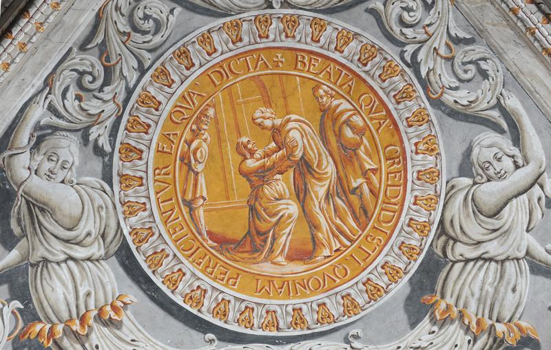 Détail du décor de la chapelle de Sainte-Marie d'en-Haut