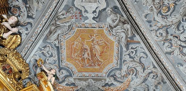 Détail du décor de la chapelle baroque de Sainte-Marie d'en-Haut
