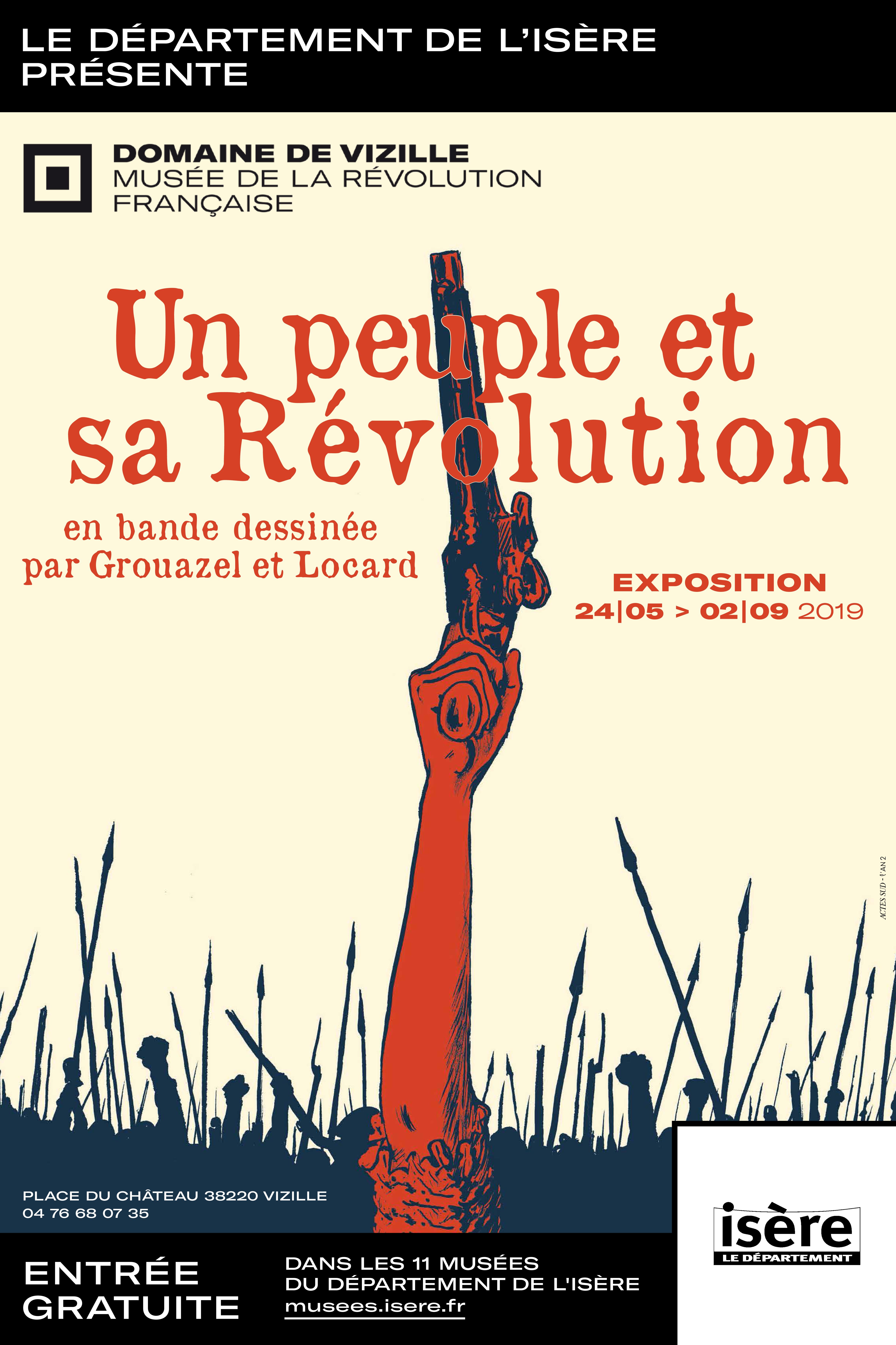Visuel réalisé à partir de la couverture de Révolution, I-Liberté  Grouazel et Locard Editions ACTES SUD - L'An 2