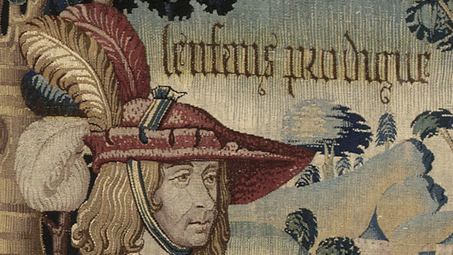 détail, Le Départ de l'Enfant prodigue, Pays-Bas du sud, vers 1510-1520 © RMN-Grand Palais (musée de Cluny - musée national du Moyen-Âge) / Gérard Blot / Christian Jean