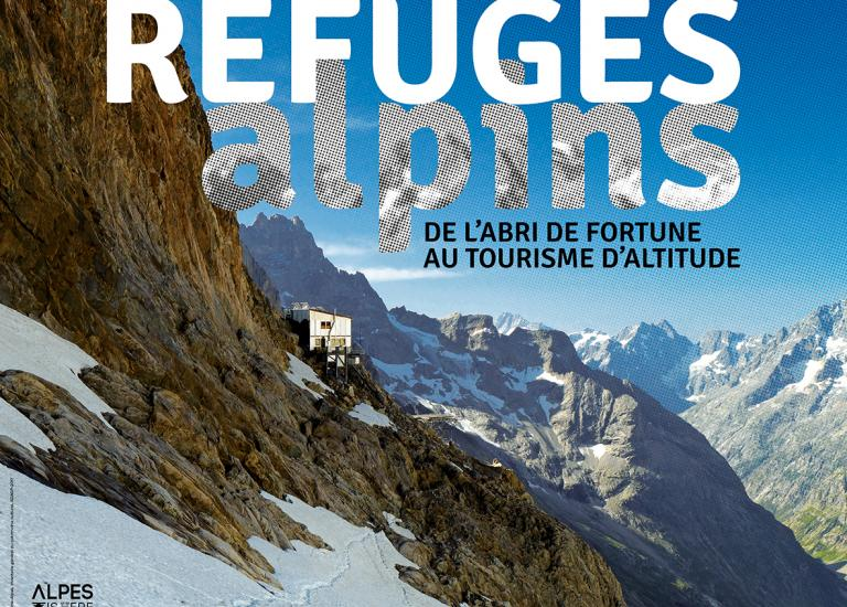 "Affiche de l'expo ""Refuges alpins"""